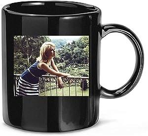#Hayley #Mills #Posing #Overlooking #English Garden Coffee Mug for Women and Men Tea Cups