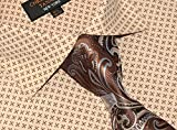 Christopher Tanner Mens Regular Fit Dress Shirts With Tie Hankerchief Cufflinks Combo Printed Fabric