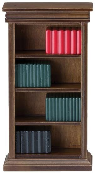 Amazon.es: Estudio Mueble En Miniatura Para Casa De Muñecas Nogal ...
