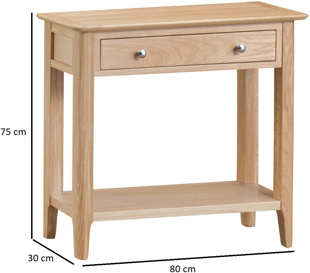 Wahwah Home Scandi Oak Console Table Retro Hallway Unit With Storage Amazon Co Uk Kitchen Home