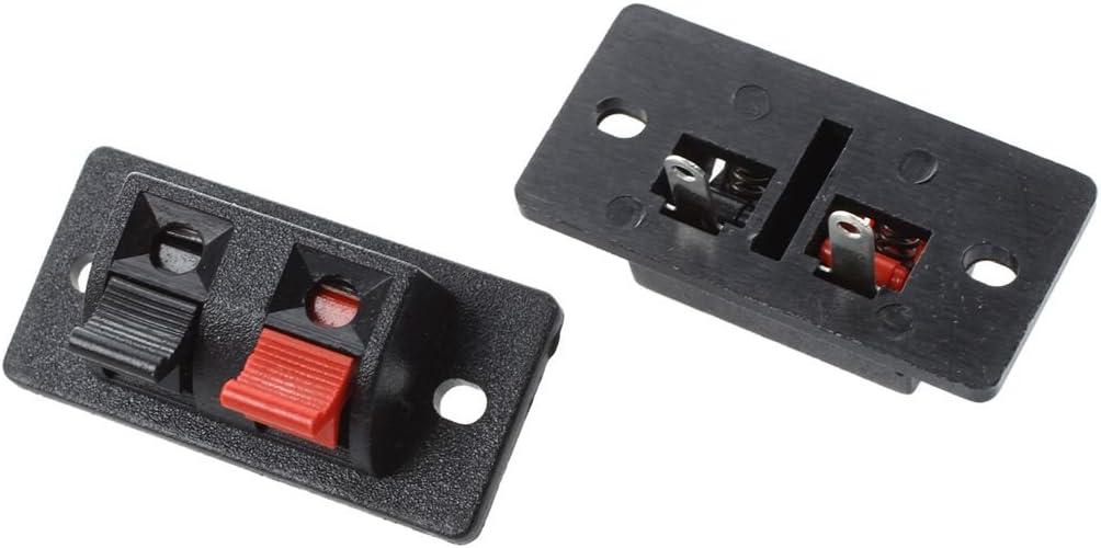 5 Pcs Rouge Noir simple rangee 2 Positions Poussoir Prise Haut-parleur Terminal BNFUK BNFUK R