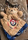 Texas Rangers Security Bear Blanket with Royal Blue Border by Baby Fanatics