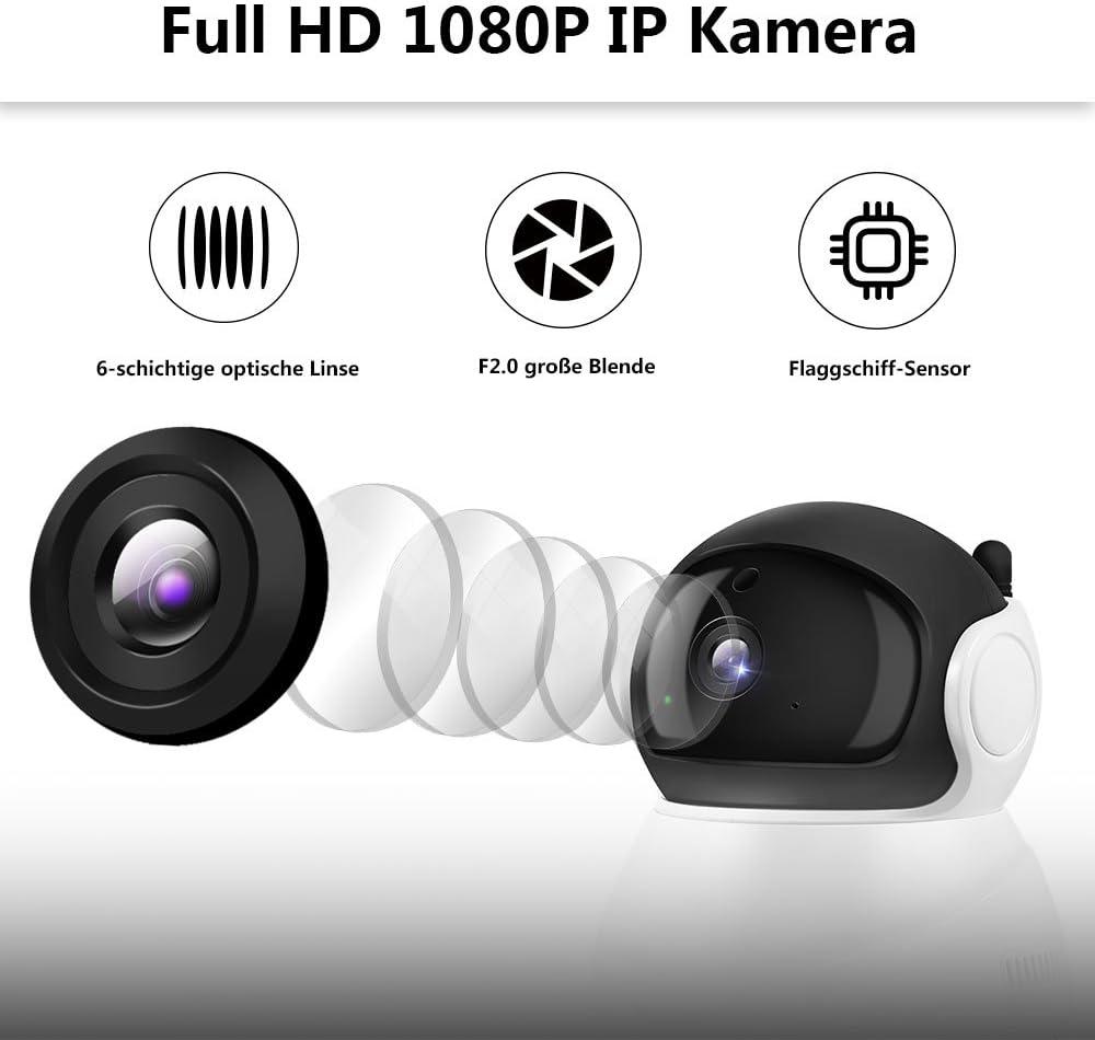 Wanscam 720P HD WiFi Kabellos IP-Kamera Zwei-Wege-Audio-Gespraech Babyphone B2S6