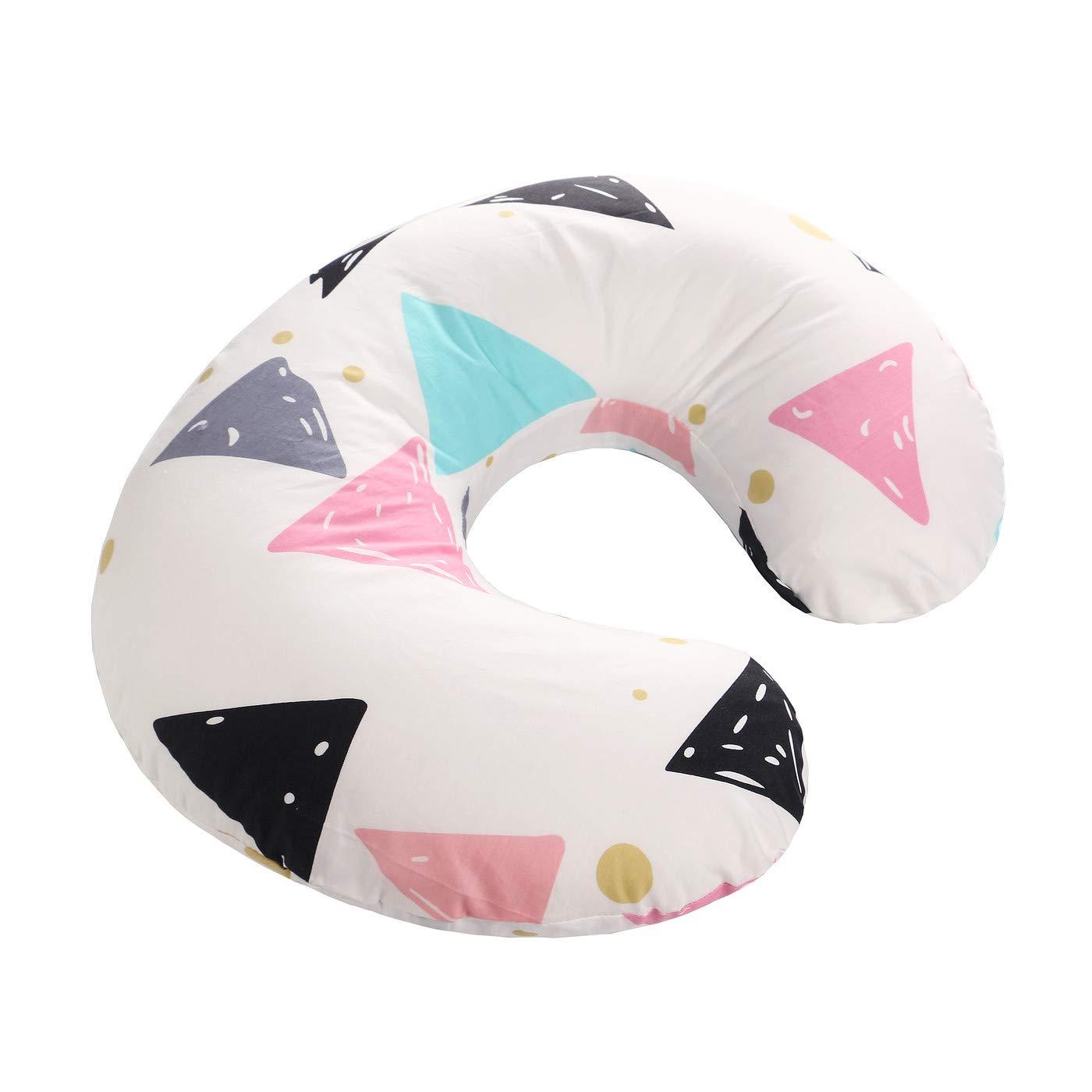 VERNASSA Nursing Pillow, Breastfeeding Baby Support Pillow| Newborn Infant Feeding Cushion | Portable for Travel (Colorful Triangle) by VERNASSA