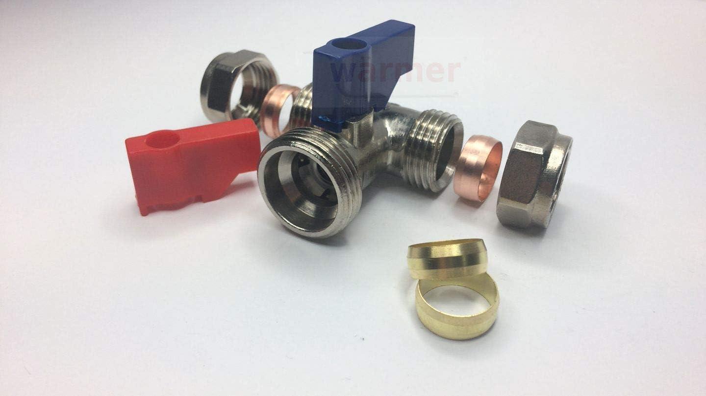 +2 Extra Olive 15 mm x 1,9 cm BSP W/ärmer System PSW Trade Suppliers Ltd T-St/ück f/ür Waschmaschine 15 mm Messing