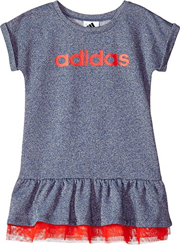 adidas Girls' Little' Active Polo Dress, Noble Indigo Sparkle HTR Adi, 5