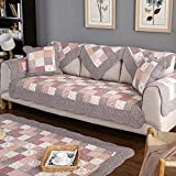OstepDecor Pastoralism Style Quilted Cotton Furniture Protector and Couch Slipcover for Sofa, Loveseat, Recliner, Chair, Machine Washable, Slip Cover for Pets, Dogs, Kids, 28'' x 82'' (70 x 210cm)