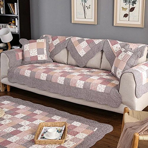 - OstepDecor Pastoralism Style Quilted Cotton Furniture Protector and Couch Slipcover for Sofa, Loveseat, Recliner, Chair, Machine Washable, Slip Cover for Pets, Dogs, Kids, 28