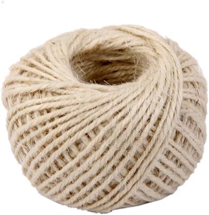 progetti per incartare regali Westeng 1PC 2/mm gomitolo di spago string Ball 50/meter corda di canapa naturale per tag fai da te ufficio giardinaggio