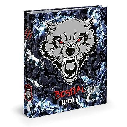 Dis2 - Archivador 4 anillas 3,5 bestial wolf negro