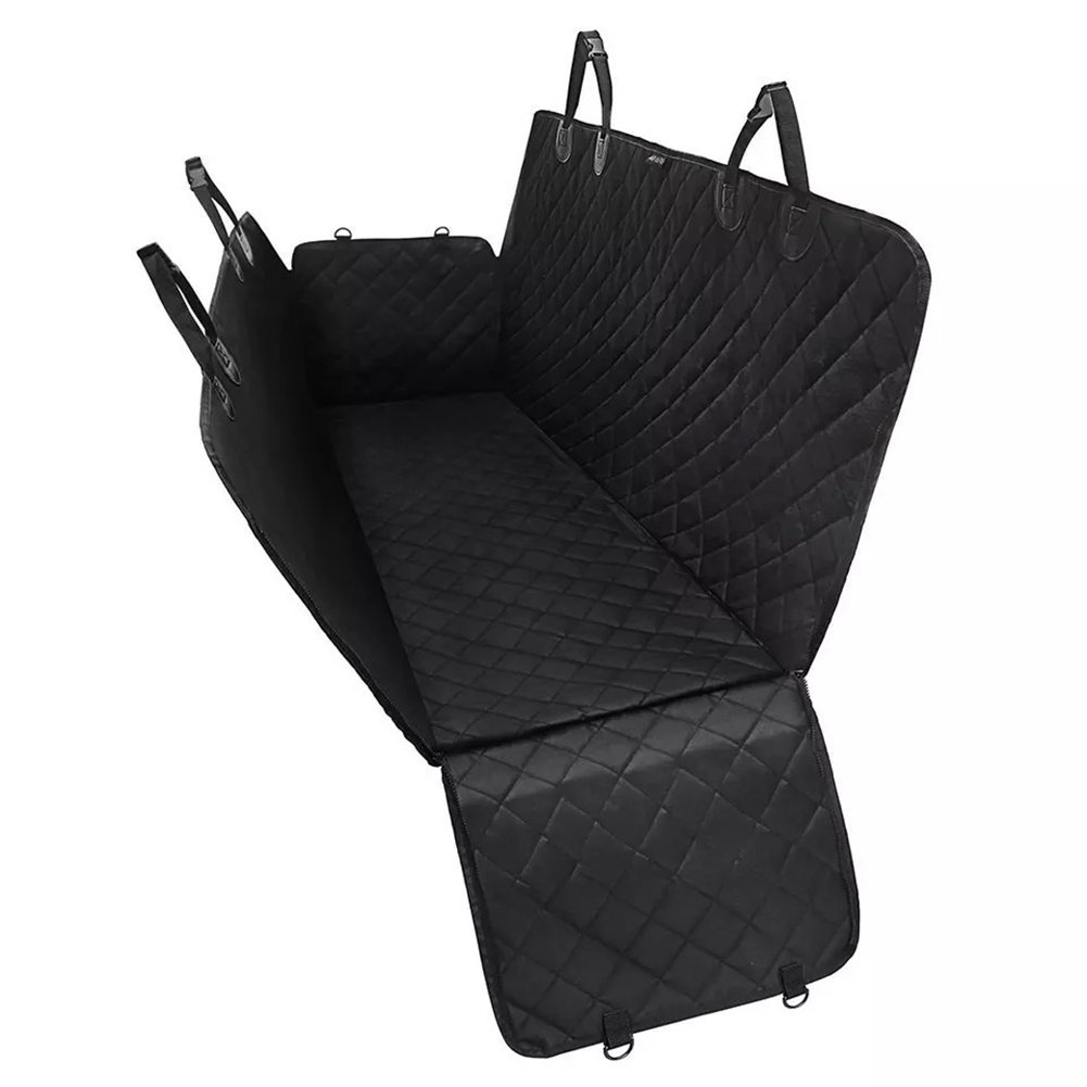 Pet Seat Cover for Dogs, Waterproof Dog Hammock Car Seat Cover for Cars, Trucks and SUV's, Non-Slip Universal Size (130  145 cm),Black