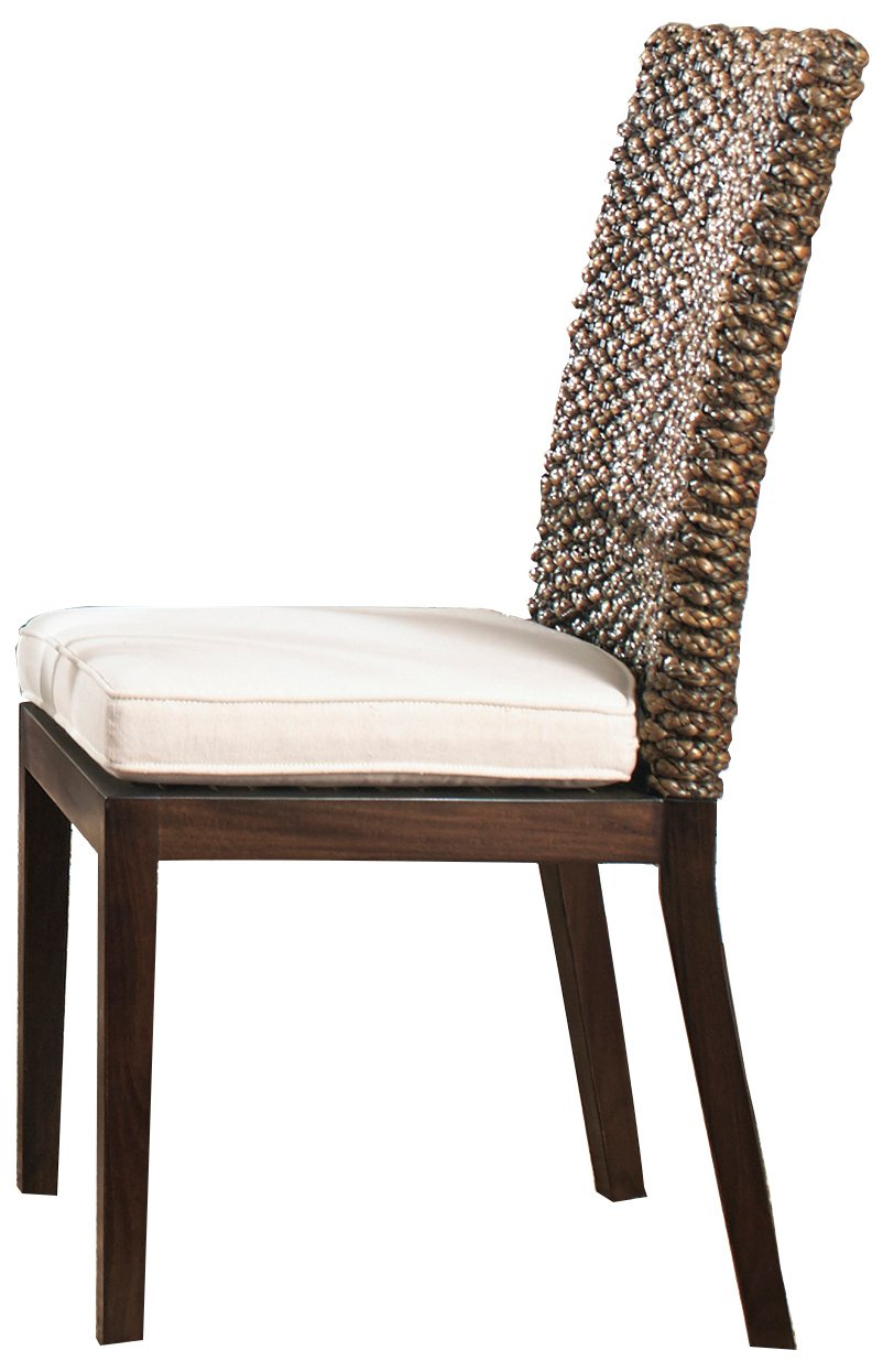 Hospitality Rattan 913-6208-TCA-C Lucaya Indoor Swivel Rattan & Wicker Counter Stool in TC Antique Finish with Cushion, 24'', Deco Spa