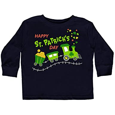 0f8e9b32 inktastic - Happy St. Patrick's Day Toddler Long Sleeve T-Shirt 2T Black  286d9