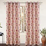 """Cheap DriftAway Avery Room Darkening/Thermal Insulated Grommet Window Curtains, Moroccan Floral/Bohemian Suzani pattern, Set of Two Panels, each 52""""x84"""" (Pink/Multi)"""