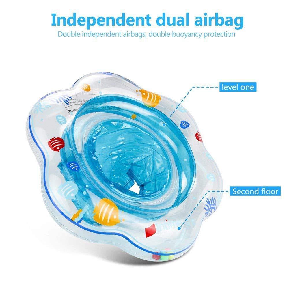Babyschwimmring Schwimmkreis Kinder Schwimmring Babybecken Hautpflege PVC f/ür S/äuglingstraining Float Aufblasbare Arme Kreis f/ür Kleinkinder 1-3 Jahre Blue