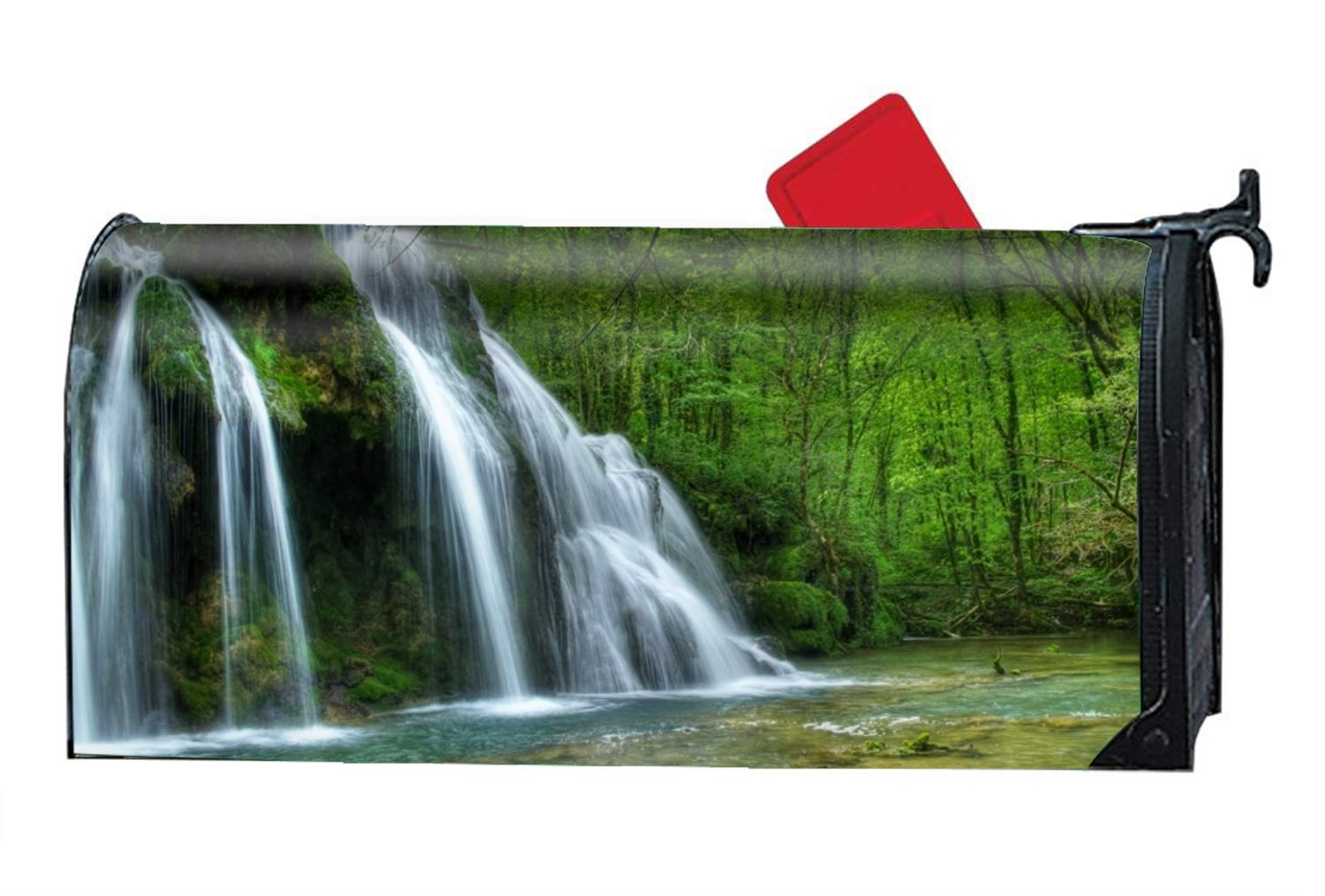 FunnyLife Waterfall by The Trees Mailbox Makeover - Seasonal Magnetic Cover by FunnyLife (Image #1)