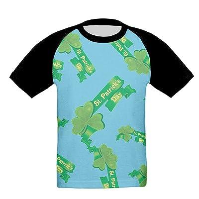 DHj1 Tshirt Saint Patrick's Day Children's Novelty Crew-Neck Raglan Short Sleeve T-Shirt