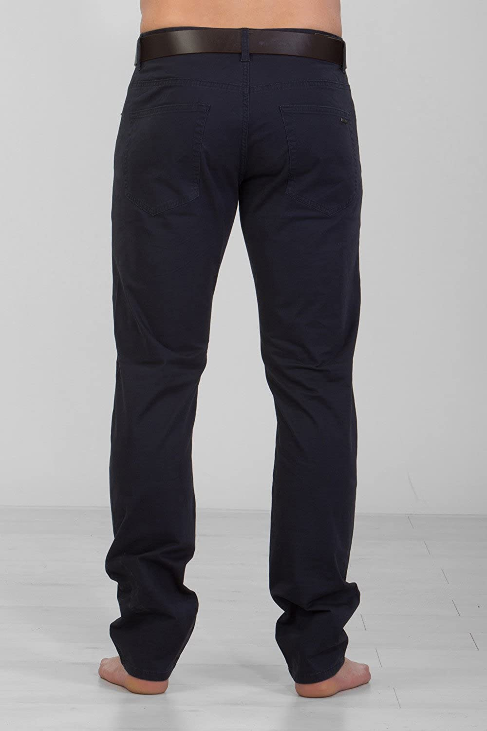 Gear Mens Stretch Slim Fit Chinos JSM248 Navy by