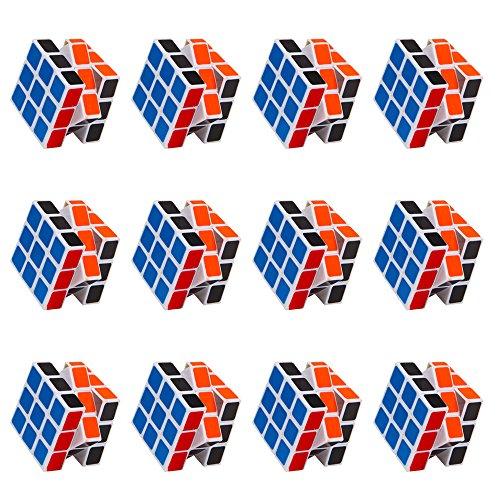 12 Packs Mini Cubes, Speed Cubes, Stickerless Magic Cube 3x3