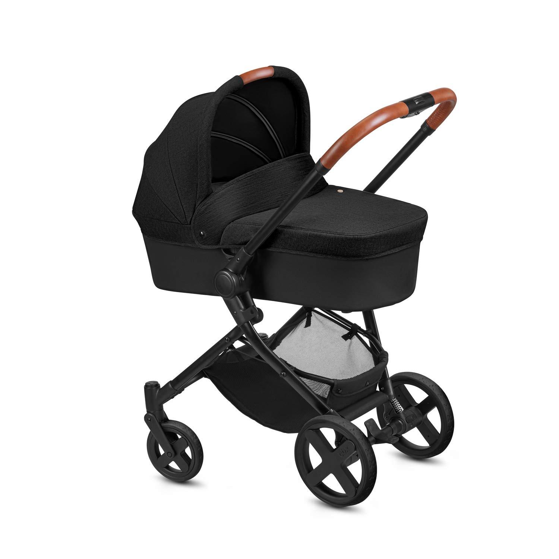 cbx Kombikinderwagen Kody Pure Lux mit wendbarem Sportsitz und Babywanne Comfy Grey Regenverdeck Ab Geburt bis 15 kg Mit Details in Leder-Optik Inkl