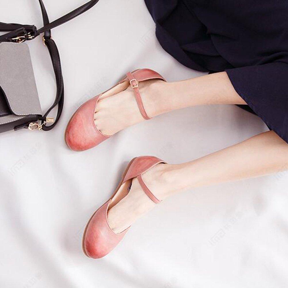 27439239dfc QIDI Sandalias Suela De Goma Mujer Rosa Cabeza Redonda Talón Plano Zapatos  Individuales (Tamaño   EU36 UK3.5)  Amazon.com.mx  ...