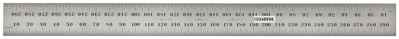 35 Gradi Starrett C635-500 con scala millimetrata cromato opaco N 500 mm Righello di precisione in acciaio temprato