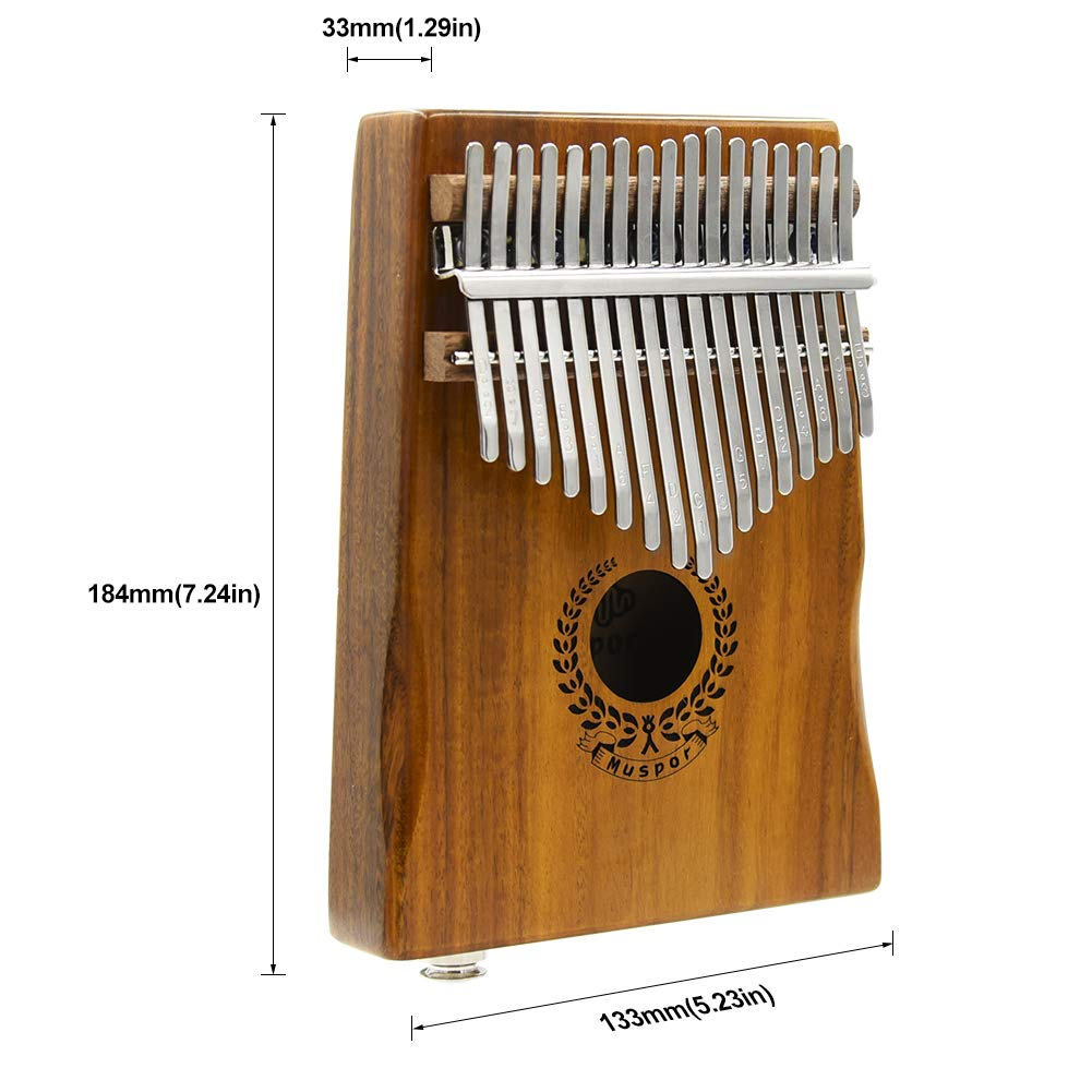 17 Keys Kalimba EQ Thumb Piano Electric Finger Piano Mbira Solid Acacia Wood with Calibrating Tune Hammer and Carry Box, Built-in Pickup and 6.35mm Interface, Perfect Gift for Musical Lovers By VOSTOR by VOSTOR (Image #2)