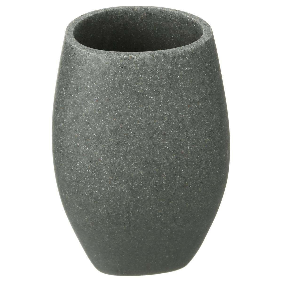 C/éramique JJA 939442 Gris 7 x 7 x 10 cm Pot /à coton Stone