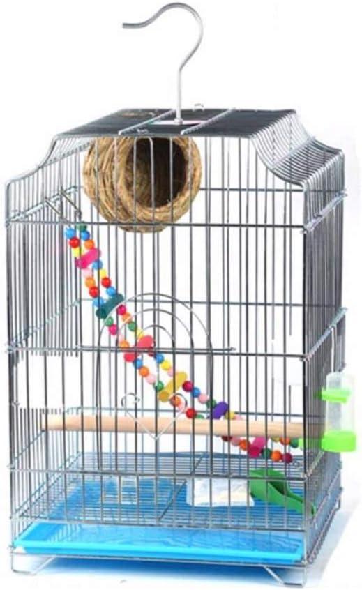 ART-YJ Jaula De Pájaros Metal Casa del Pájaro por Periquito Pájaros del Amor Mejilla Verde Canario Perico Cacatúa Pequeño Loro, Blanco Nidos para pájaros (Color : Package 4)