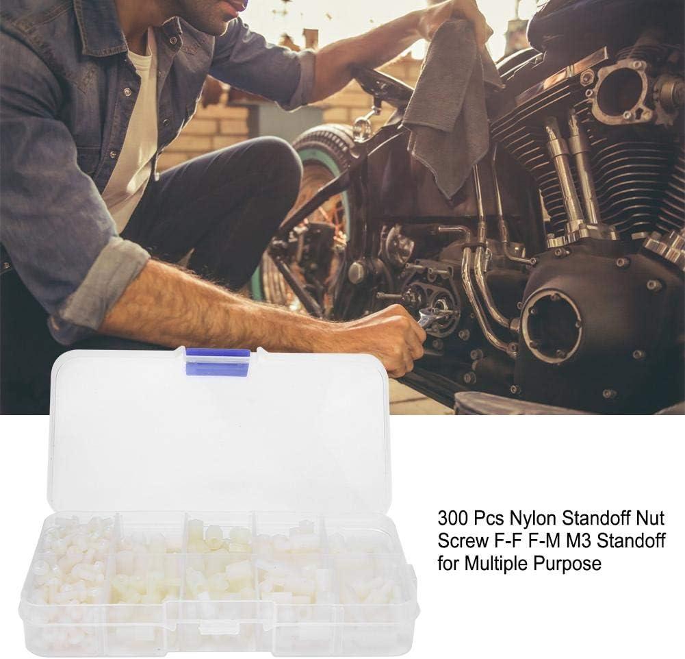 300 Pcs Nylon Standoff Nut Screw F-F F-M M3 Standoff for Multiple Purpose Black for Fasteners Rosvola Standoff Nylon Screw