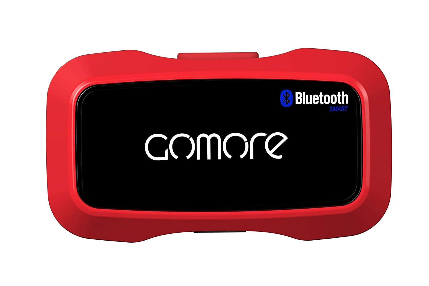 GoMore Stamina Sensor Fitness Tracker for iOS and Android – Carrier Packaging – Red