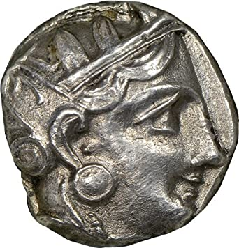 GR 393-294 BC Ancient Greece Antique Silver Coin Rare Greek Coins AR