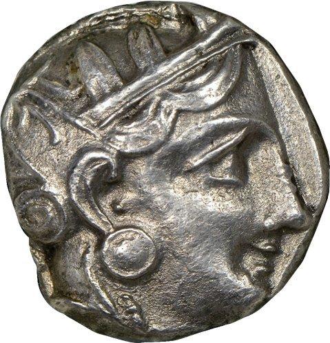 Coin Greek Silver Ancient Tetradrachm - GR 393-294 BC Ancient Greece Antique Silver Coin Rare Greek Coins AR Tetradrachm About Uncirculated NGC