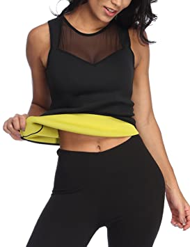 75de0dde4a Image Unavailable. Image not available for. Colour  HEYME Workout Top Hot Body  Shaper Slimming Vest Shirt No Zipper