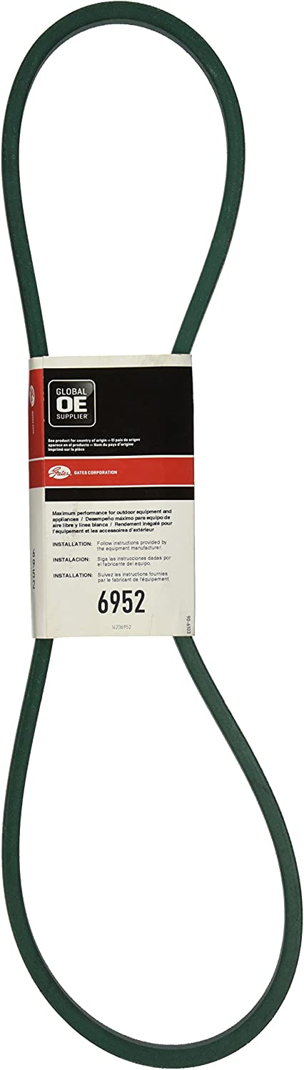 3//8 Height Gates 6952 PoweRated V-Belt 52.0 Belt Outside Circumference 21//32 Width 5L Section