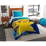 Pokemon Twin Sized 4 Piece Bedding Set - Reversible Comforter & Sheet Set