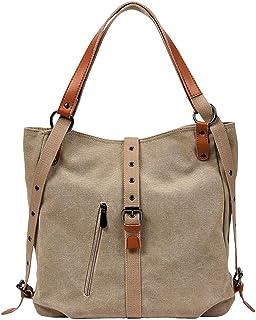 Godatila Women's Stylish Canvas Zipper Tote Bag Handbag Travel Shoulder Beach Messenger Bags Ladies Shopping Fold Bag Casual Bags Hand Bag