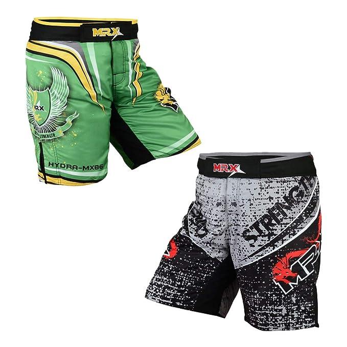 Men MMA Thai Boxing Kickboxing Sports Shorts Dragon Printed Fighting Short Pants