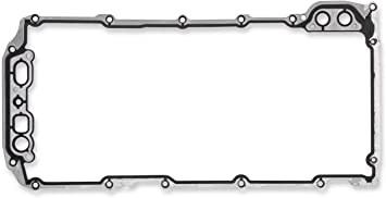 Mr Gasket 61060G Oil Pan Gasket Molded Rubber w//Aluminum Carrier Oil Pan Gasket