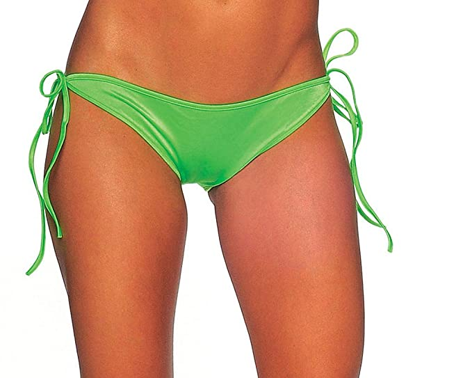 8338b08bab843 Image Unavailable. Image not available for. Color  BODYZONE Sexy Tie Side Scrunch  Butt Bikini Bottoms ...