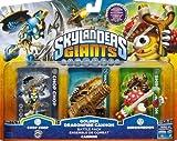 Skylanders Giants Exclusive Golden Dragonfire Cannon Battle Pack Chop Chop, Golden Dragonfire Cannon, & Shroomboom - Unlocks Exclusive in Game Battle Arena