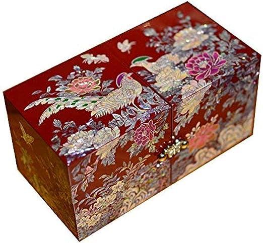 Caja de Joyería El Lacado joyería Retro Caja de Madera de China ...