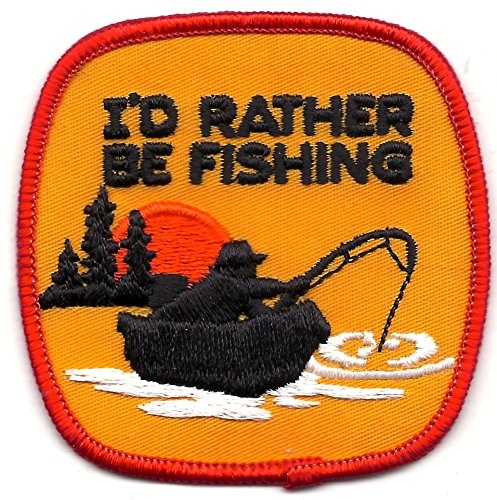 I'd Rather Be Fishing Patch 3-1/2 Inches Long