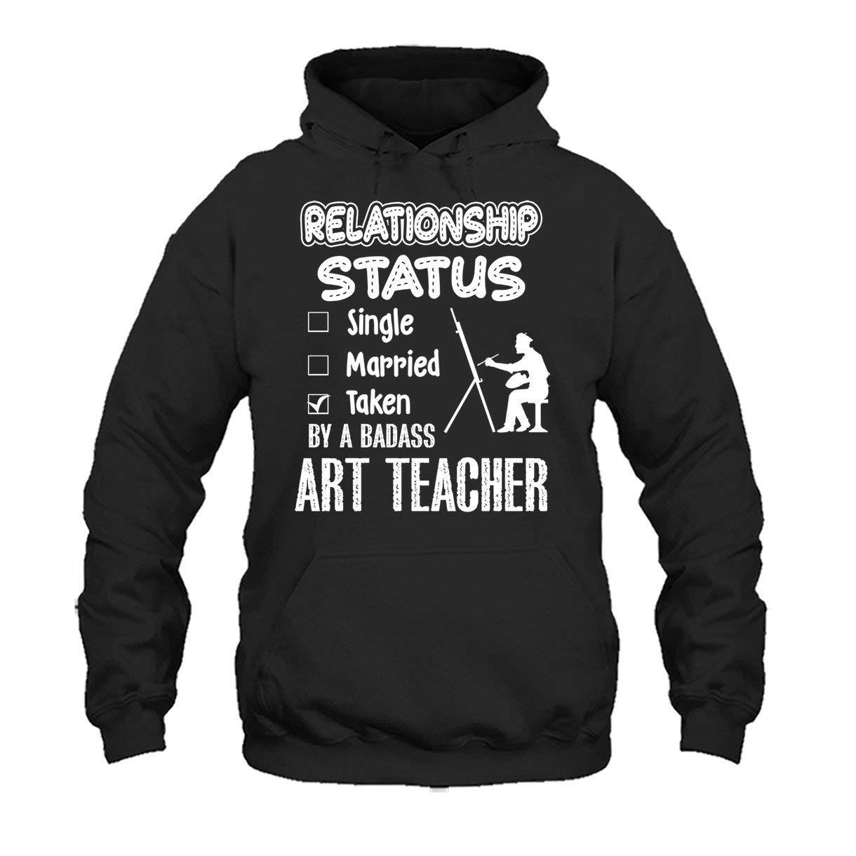 Cool Long Sleeve Shirt Art Teacher Relationship Status Tee Shirt