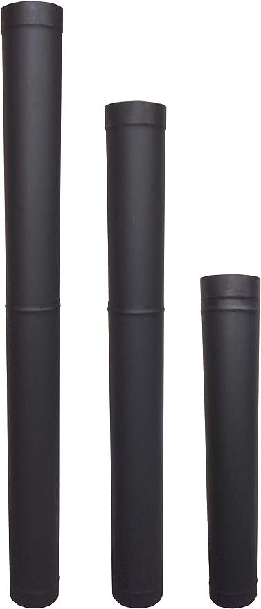 Rockford Chimney Supply Single Wall Black Stove Pipe 8 x 12