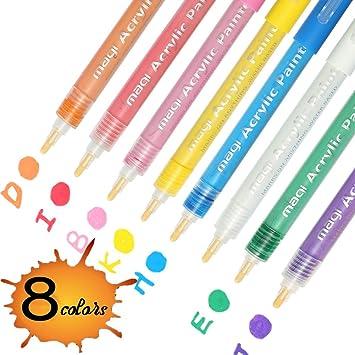 4 pcs Acrylfarbe Marker Stift Kunst Permanent Malen Stifte Für Malerei