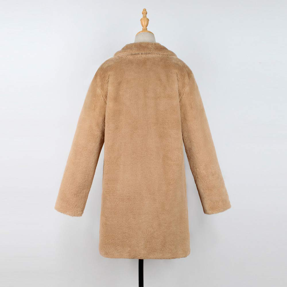 iTLOTL Winter Lady Womens Warm Long Faux Fur Coat Jacket Parka Outerwear