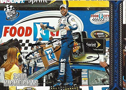 AUTOGRAPHED Jimmie Johnson 2011 Press Pass Racing 50 WIN PLATEAU (Bristol Victory Lane) Signed Collectible NASCAR Trading Card with COA ()
