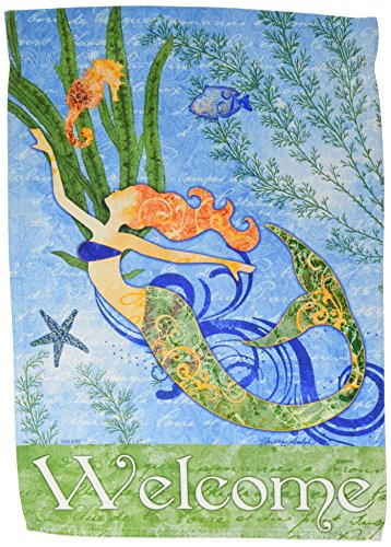 Carson Home Accents FlagTrends 46789 Mermaid Welcome Classic