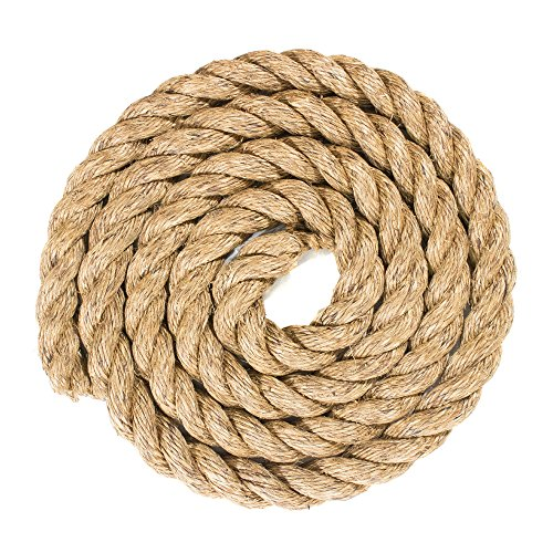 West Coast Paracord Natural Fiber Three Strand Manila Rope - 1½ Inch - 100 Feet
